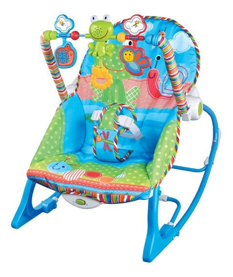 Cadeira De Descanso Bebê Musical Maxi Baby Até 18kgs Azul