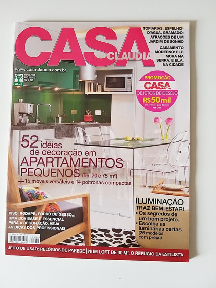 Revista Casa Claudia 559 De Março De 2008
