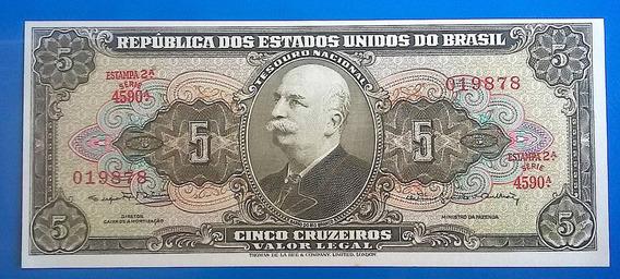 V 9151 Cédula C 074 5 Cruzeiros 2a Estampa 1962 Família Real