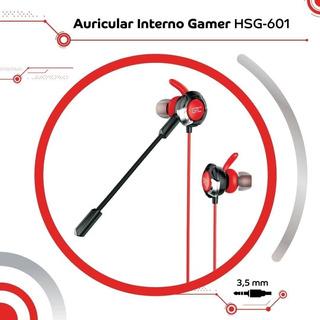 Auricular Interno Gamer Gtc Hsg-601 Color Rojo Con Mic.