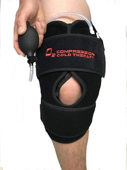 Envuelva La Rodilla Terapia Fría O2 Con Bolsa De Hielo Y Com
