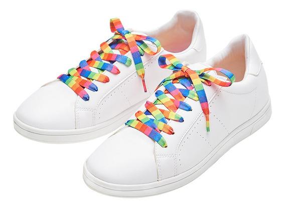 Sneaker Casual De Agujeta Multicolor De Mujer C&a 1050388
