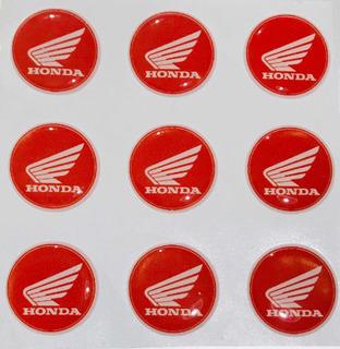 Logo Calcomania Honda Resinado Relieve Motoscba