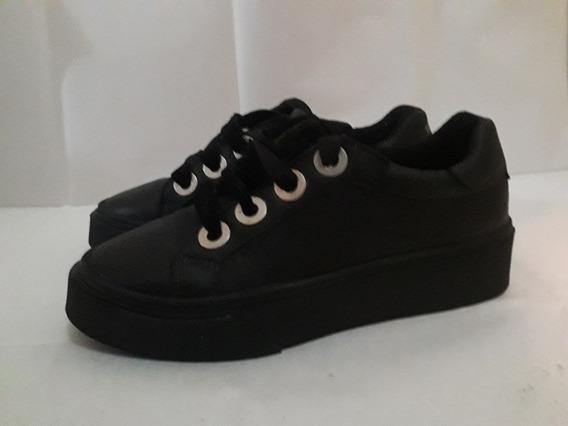 Zapatillas Urban Cow Color Negro De Cuero Nuevas