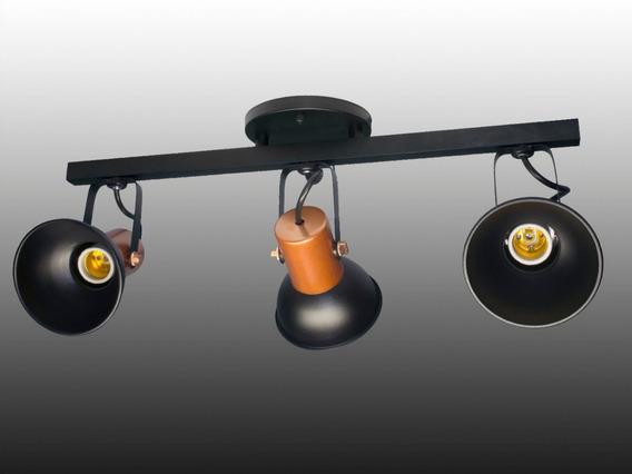 Colombo Spot Sobrepor Trilho Triplo Preto/cobre T-104/3