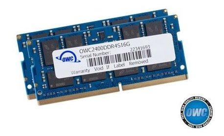 Memoria Ram 32gb Owc (2 X 16gb) 2400mhz Ddr4 So-dimm Pc4-19200 Upgrade Para 2017 iMac 27 Inch With Retina 5k Display (ow