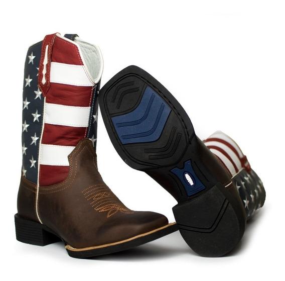 Bota Texana Country Masculina 100% Couro Legítimo