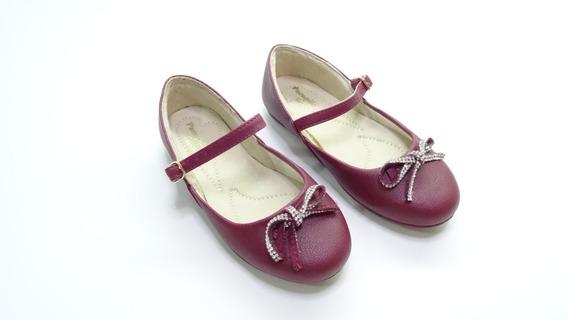 Sapato Infantil Pampili Bailarina Laço Strass Tam 25