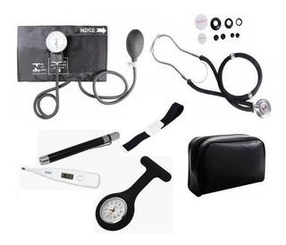 Kit Para Enfermagem C/ Aparelho De Pressão+bolsa Premium
