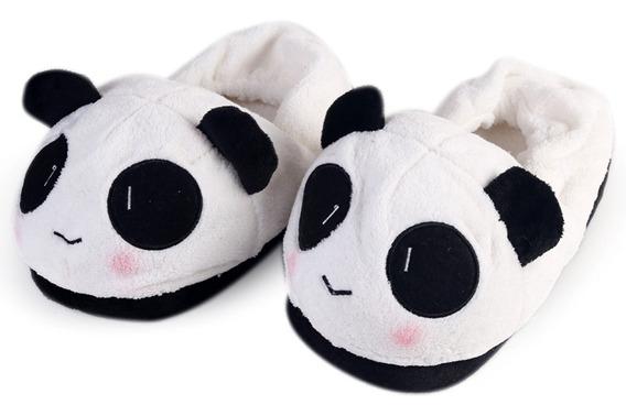 Pantuflas Oso Panda Cabezon Kawaii Unisex Cute Con Regalo