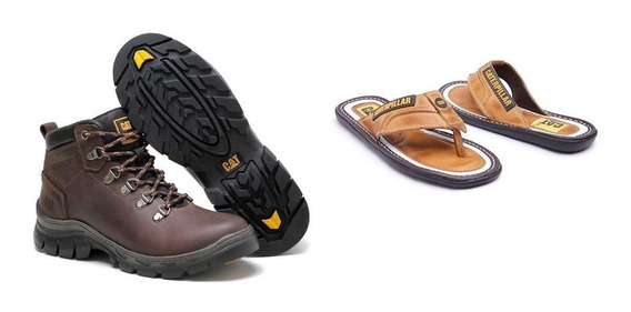 Bota Caterpillar + Chinelo Talle 41 Unico