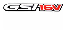 Emblema Gsi 16v Adesivo Resinado Chevrolet Astra Corsa