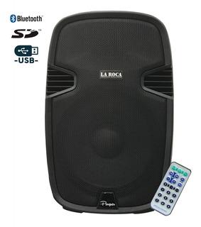 Bafle Activo Potenciado 12 300w Bluetooth Usb Sd La Roca