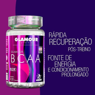 Glamour Bcaa 100 Cáps - Made In Usa