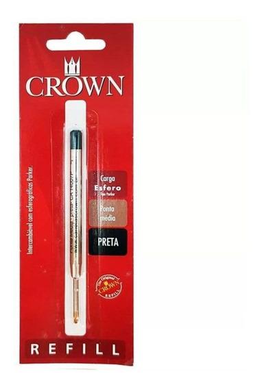 Carga Para Caneta Crown Ca14007p Prata