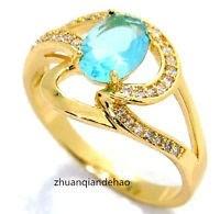 Anel Banhado A Ouro 18kt Pedra De Diamante Cz T-20 + Brindes