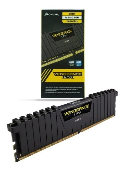 Memoria Gamer Corsair Vengeance Lpx Black 8gb 2400mhz Ddr4