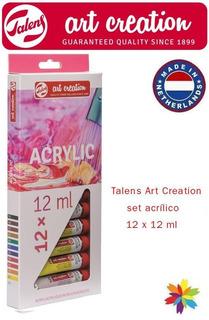 Caja De Acrilicos Art Creation Talens X 12 P. Barrio Norte..