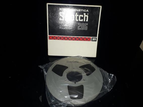 Fita Magnética Som Antigo Carretel Metal Scotch 206 3m Grava