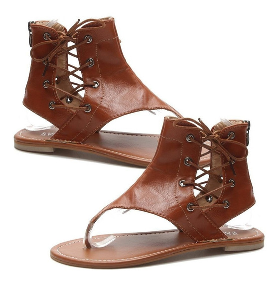 Mulheres Casual Sólido Renda Up Sapatos Zíper Sandálias A