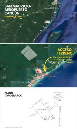 Terreno En Venta (san Mauricio)en Puerto Aventuras