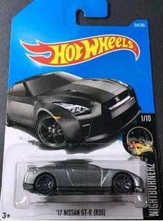 Hotwheels 17 Nissan Gtr R35 New Gris #364 2017