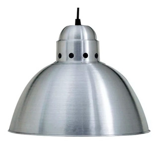 Colgante Campana Aluminio 45cm Diam Lamp. Led Incluida 220v