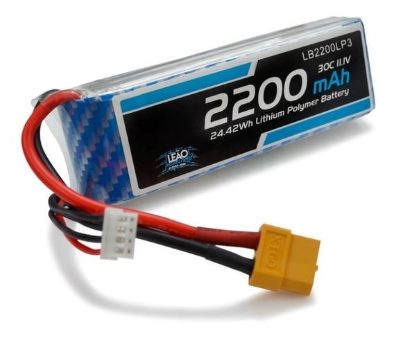 Bateria Lipo - 11.1v - 3s - 2200mah - 30c/60c - Xt60 C/ Nfe