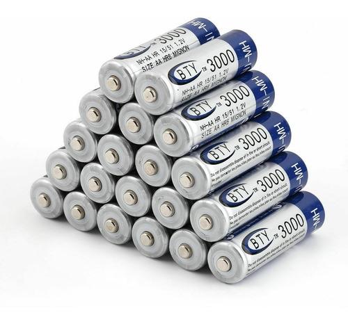 Baterias Pilas Recargable Aa Aaa Bty 3000 1000 Mah X4 Pack