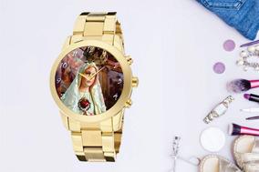 Relógio De Pulso Personalizado Religião Imagem - Cod.1101
