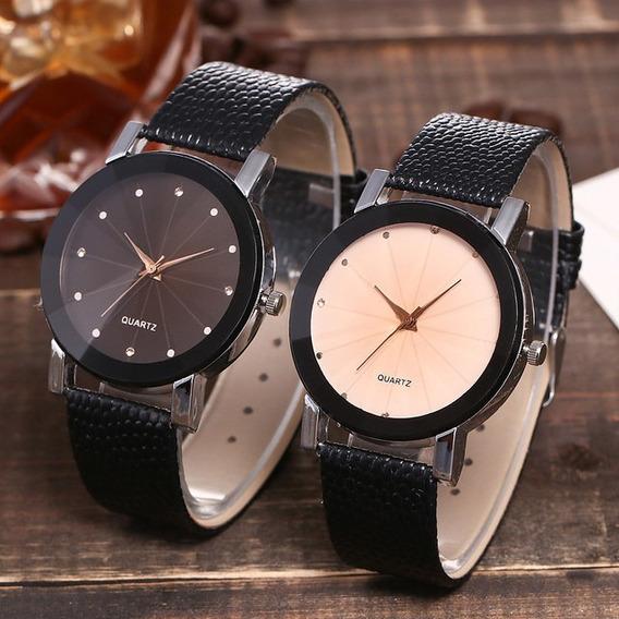 Relógio Feminino De Luxo Pulseira De Couro Promoção Barato