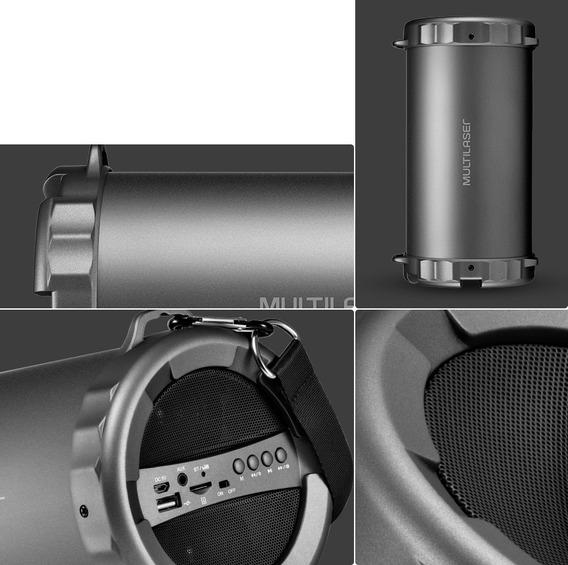 Caixa De Som Speaker Sp233 Bazooka, Usb/sd/aux/p2, Bluetooth