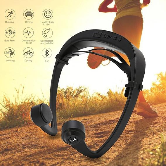 Fone De Ouvido Condução Óssea Bluetooth 4.1 V9