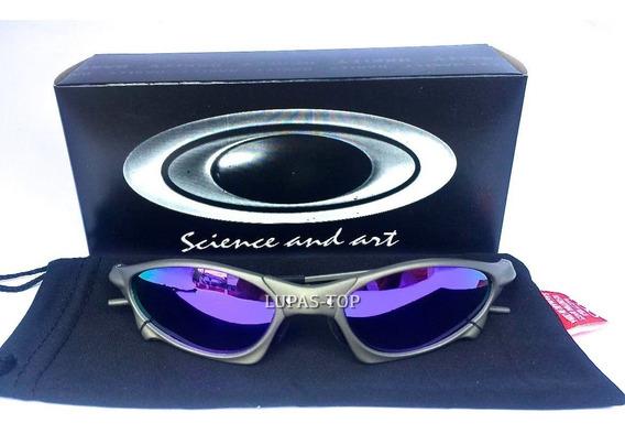 Oculos Oakley Penny X Xmetal Lente Roxa Violet + Lente Extra