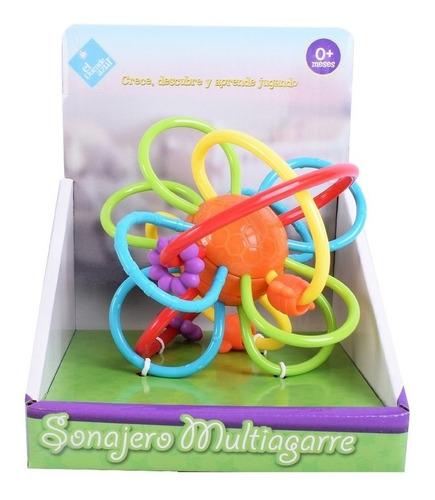 Imagen 1 de 8 de Sonajero Multiagarre Para Bebe El Duende Azul Jeg 7411