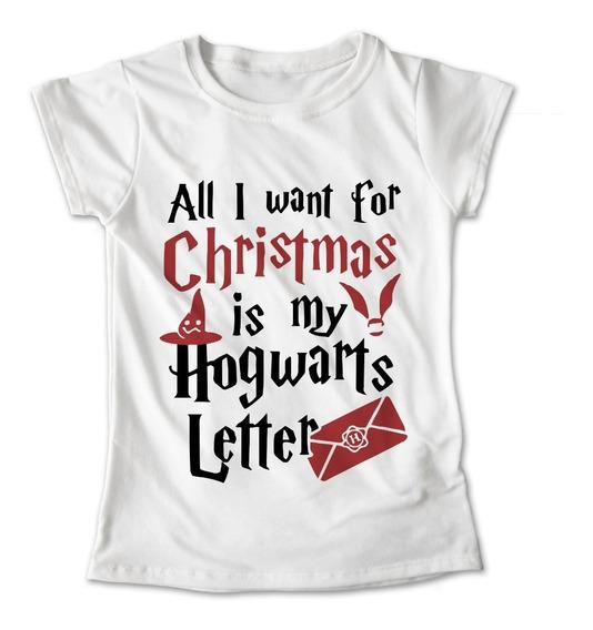 Blusa Navidad Harry Potter Hogwarts Letter Playera #381