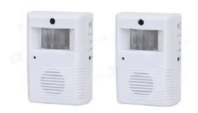Kit 2 Sensores De Presença Campainha Anunciador Sem Fio