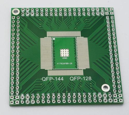 Placa Adaptador Qfp / Eqfp / Tqfp / Lqfp144 / Lqfp128 Smd