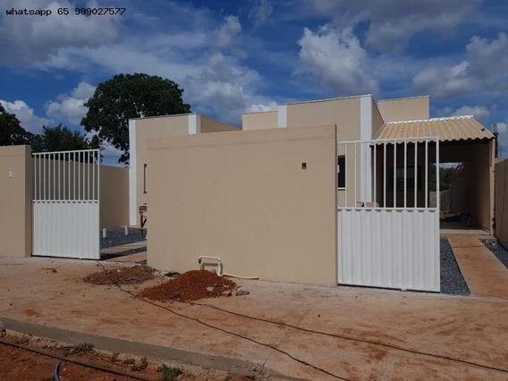 Casa Para Venda Em Várzea Grande, Ouro Verde, 2 Dormitórios, 1 Suíte, 2 Banheiros, 2 Vagas - 368_1-1341629
