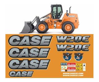 Kit Adesivo Pá Carregadeira Case W20e Ano 12-18 +etiqueta Mk