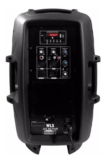 Caixa De Som Amplificada Wls J12 Mic + Usb + Sd +bluetooth