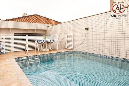 Imagem 1 de 30 de Casa Com 4 Suítes À Venda, Área Gourmet Com Piscina,  220 M² Por R$ 1.400.000 - Boqueirão - Santos/sp - Ca1326