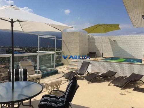 Cobertura Com 3 Dormitórios À Venda, 198 M² Por R$ 1.590.000,00 - Centro - Bertioga/sp - Co0077