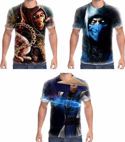Camisetas Personalizadas Mortal Kombat Promoção