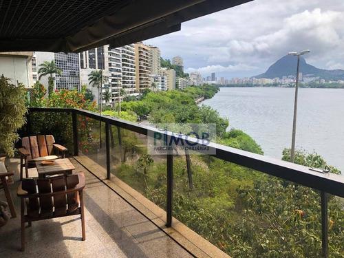 Apartamento Com 4 Quartos Para Alugar, Vista Panorâmica,275 M² Por R$ 4.000/mês - Lagoa - Rio De Janeiro/rj - Ap1013