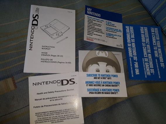 Só Manual Do Video Game: Nintendo Ds Lite Frete Gratis Carta