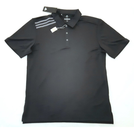 Polo adidas Golf Essent 3 Stripe Upf50 Gris Original Nueva