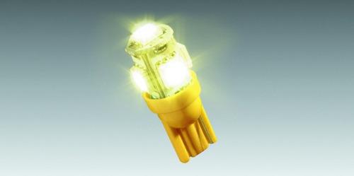 Lâmpada Do Painel Para Moto Com 5 Leds - Amarela