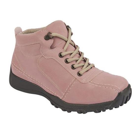 Botas Terra Para Dama Color Rosa Tipo Nobuck 023529