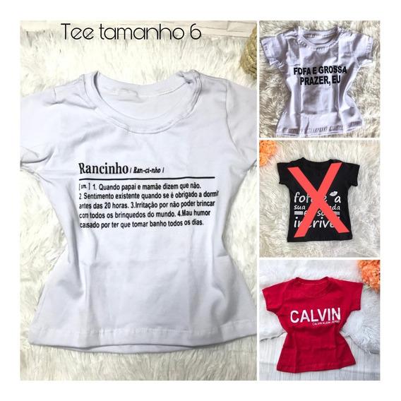 Tshirt Tee Blogueirinha Tamanho 6